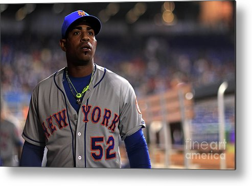 Yoenis Cespedes Metal Print featuring the photograph Yoenis Cespedes by Mike Ehrmann