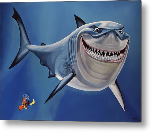 Finding Nemo Metal Print featuring the painting Finding Nemo Painting by Paul Meijering