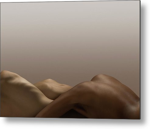 People Metal Print featuring the photograph Abstract Nude Bodies, Different Skin by Jonathan Knowles