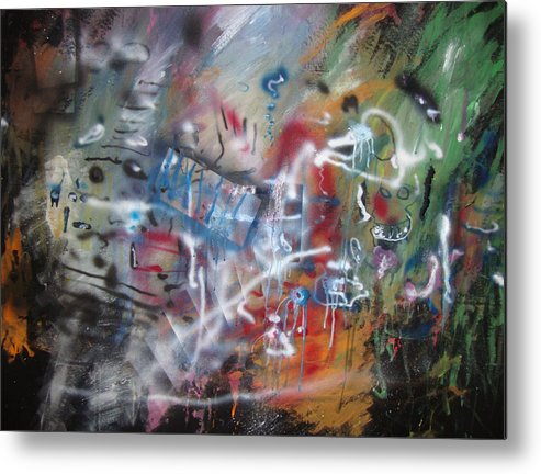Abstract Metal Print featuring the painting ART by Leigh Odom