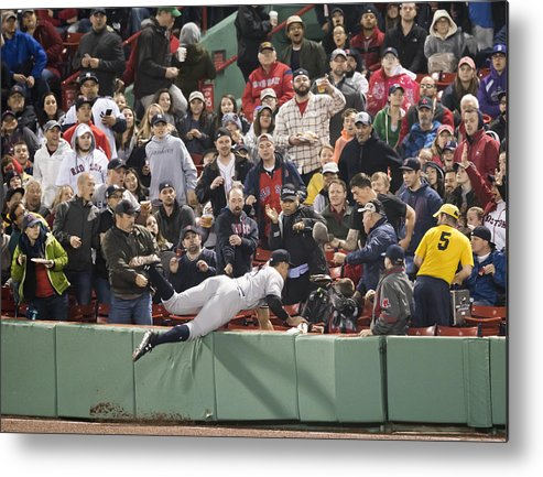 People Metal Print featuring the photograph New York Yankees v Boston Red Sox by Michael Ivins/Boston Red Sox