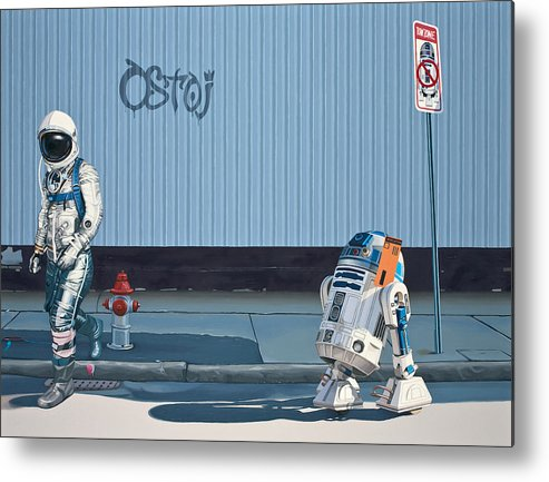 Astronaut Metal Print featuring the painting The Parking Ticket by Scott Listfield