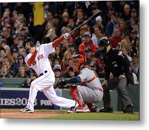 St. Louis Cardinals Metal Print featuring the photograph 2013 World Series Game 2 St. Louis by Ron Vesely