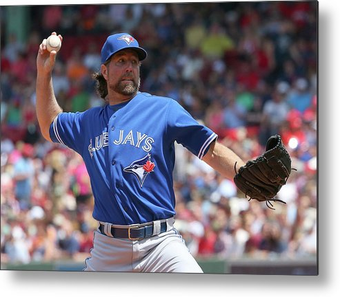 Three Quarter Length Metal Print featuring the photograph Toronto Blue Jays V Boston Red Sox by Jim Rogash