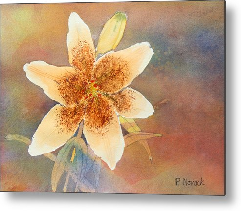 Lily Metal Print featuring the painting Asiatic Lily by Patricia Novack