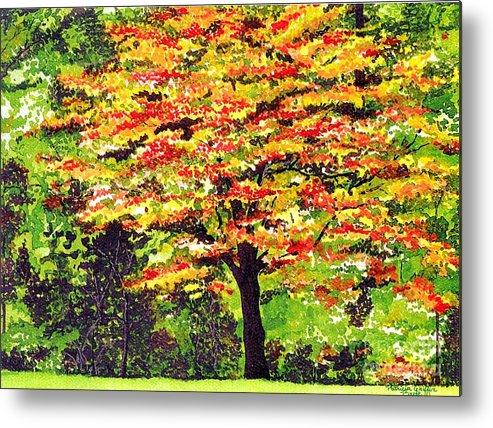 Fine Art Metal Print featuring the painting Autumn Splendor by Patricia Griffin Brett