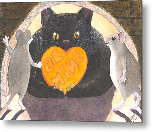 Cat Metal Print featuring the painting Be Mine by Catherine G McElroy