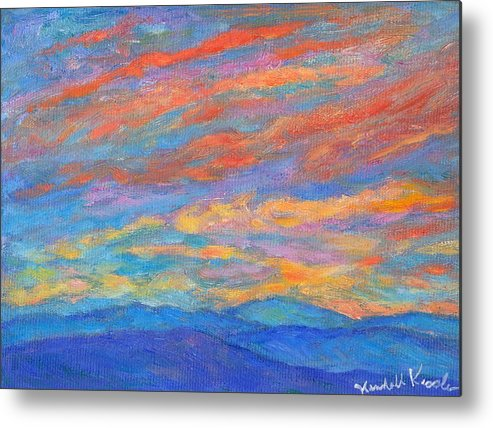 Blue Ridge Mountains Metal Print featuring the painting Color Ripples over the Blue Ridge by Kendall Kessler