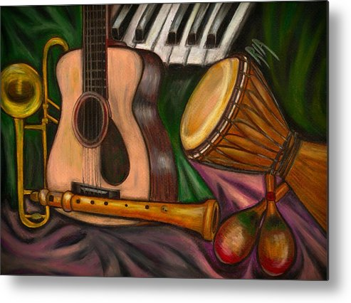 Music Metal Print featuring the photograph Grand POP by Artist RiA