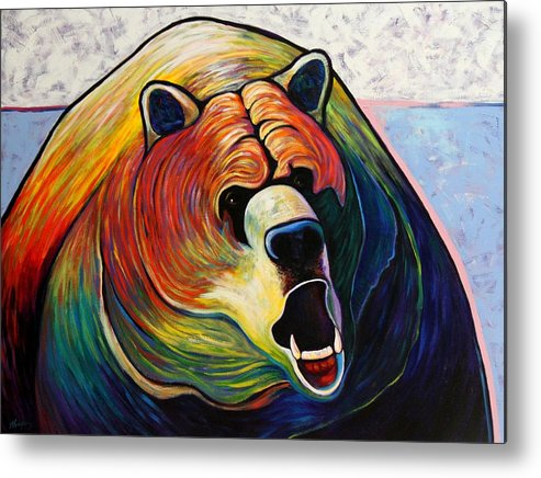 Wildlife Metal Print featuring the painting He Who Greets with Fire by Joe Triano