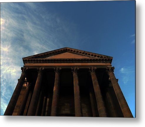 Scottish Church Metal Print featuring the photograph Imposing And Enigmatic Structure by Baato