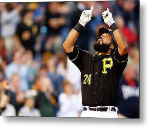 People Metal Print featuring the photograph Minnesota Twins V Pittsburgh Pirates by Jared Wickerham