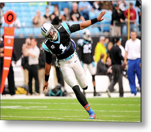 North Carolina Metal Print featuring the photograph New Orleans Saints V Carolina Panthers by Grant Halverson