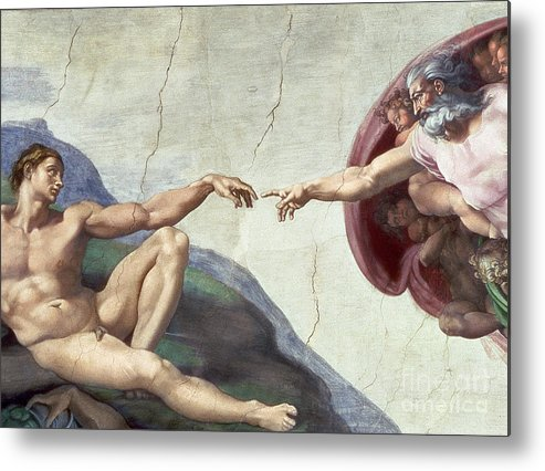 Renaissance Metal Print featuring the painting Sistine Chapel Ceiling by Michelangelo Buonarroti