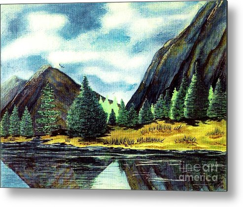Fine Art Metal Print featuring the painting Solitude by Patricia Griffin Brett