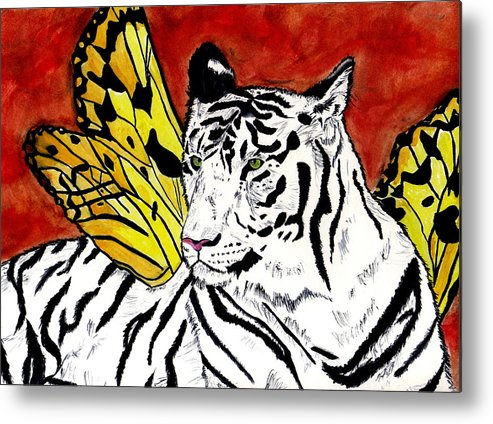Tiger Metal Print featuring the painting Soul Rhapsody by Crystal Hubbard