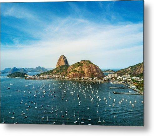 Scenics Metal Print featuring the photograph Sugarloaf Mountain In Rio De Janeiro, Brazil by Nikada