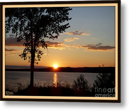 Nature Metal Print featuring the photograph Sunset by Rennae Christman