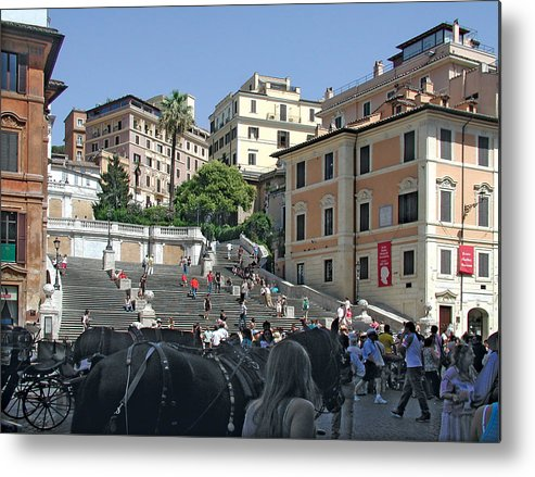 The Spanish Steps Metal Print featuring the photograph The Spanish Steps by Harold Shull