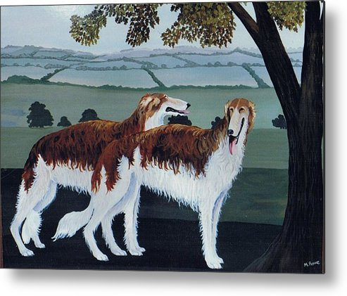Borzoi Metal Print featuring the photograph Untitled by Maggie Rowe