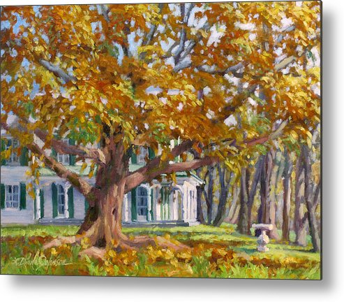 Plein Air Oil Landscape Painting Metal Print featuring the painting Crown of Gold by L Diane Johnson