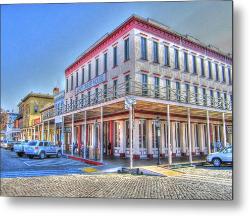 Street Corner Metal Print featuring the photograph Old Towne Sacramento by Barry Jones