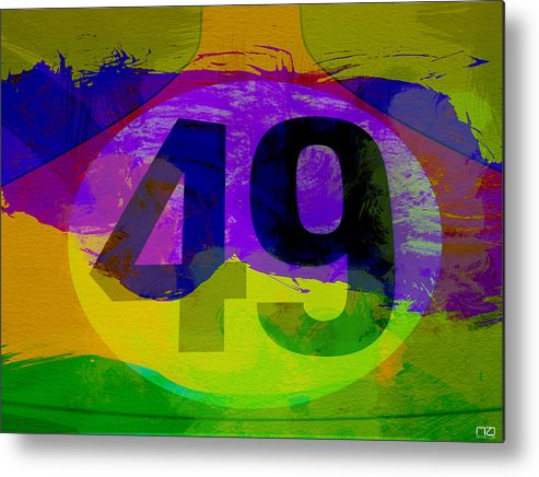Metal Print featuring the photograph Porsche 911 Number 49 by Naxart Studio