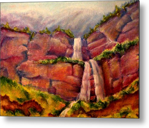 Utah Metal Print featuring the pastel Utah National Forest by Patricia Halstead