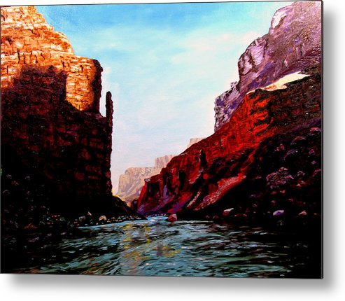 Grand Canyon Metal Print featuring the painting Grand Canyon IV by Stan Hamilton