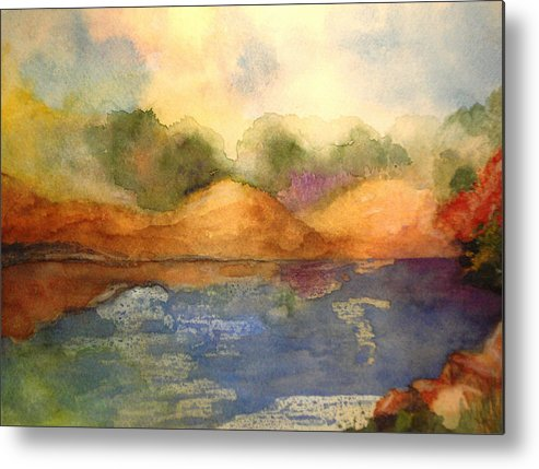 Landscape Metal Print featuring the painting Whimsy by Vi Mosley