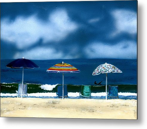 Newport Beach Metal Print featuring the painting 32nd Street by Charles Parks