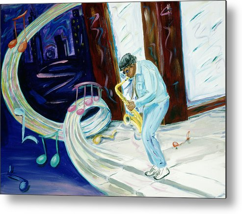 Kevin Callahan Metal Print featuring the painting 6th Avenue Blues by Kevin Callahan