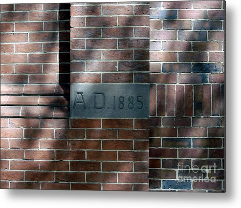 Bricks Metal Print featuring the photograph A D 1885 by Walter Neal