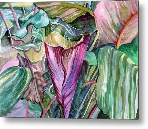 Garden Metal Print featuring the painting A Light in the Garden by Mindy Newman