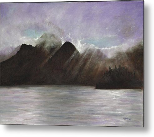 Waterscape Metal Print featuring the painting Alaskan Morning by Merle Blair