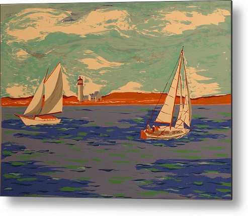 Metal Print featuring the print Along the coast by Biagio Civale