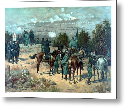 Missionary Ridge Metal Print featuring the painting Battle Of Chattanooga by War Is Hell Store