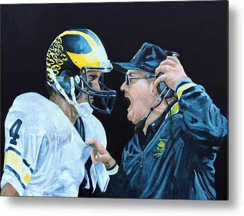 Michigan Metal Print featuring the painting BO Knows by Travis Day