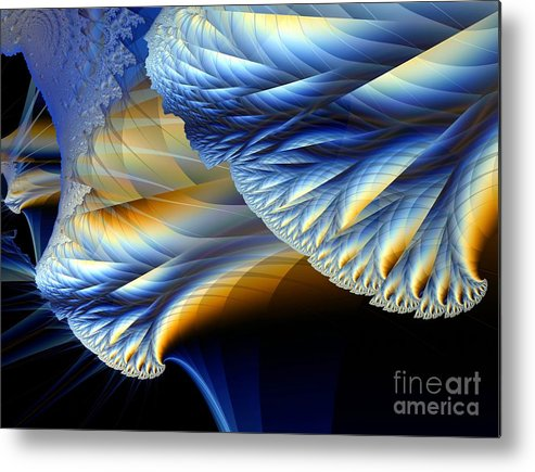 Fractal Image Metal Print featuring the digital art Cauliflower From Other Dimensions by Ron Bissett