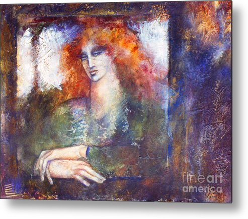 Figure Metal Print featuring the painting Cerridwen by Marne Adler