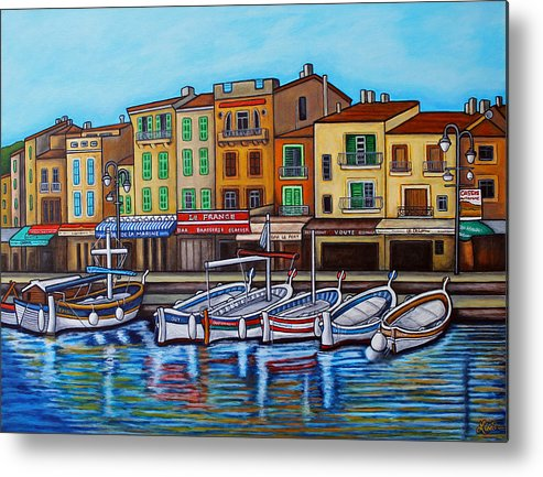 Cassis Metal Print featuring the painting Colours of Cassis by Lisa Lorenz