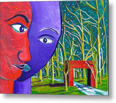 Partners Metal Print featuring the painting Commitment by Rollin Kocsis