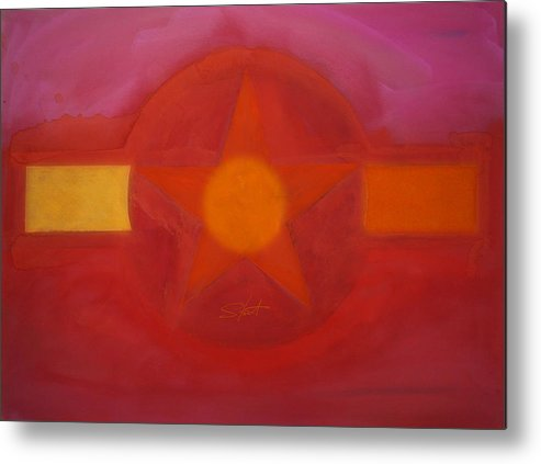 Usaaf Insignia Metal Print featuring the painting Desert Red by Charles Stuart