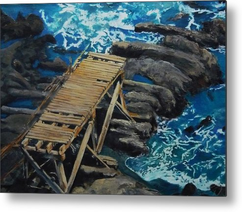 Dock Metal Print featuring the painting Dock by Travis Day