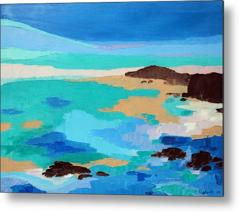 Maine Metal Print featuring the painting Dream Scape 14 by Laura Tasheiko