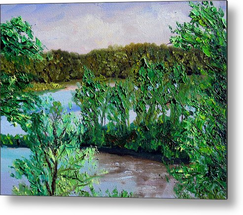 Original Oil On Canvas Metal Print featuring the painting Ecp 5-26 by Stan Hamilton