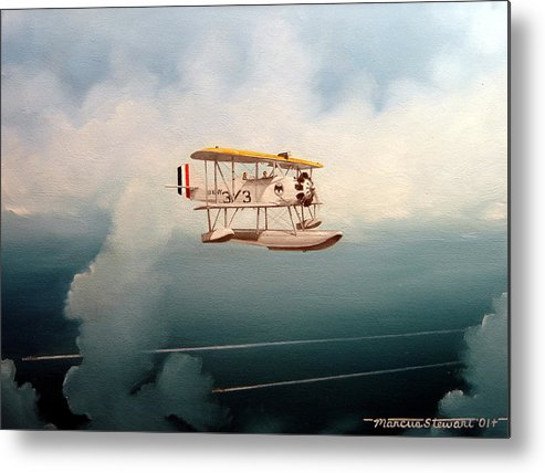 Military Metal Print featuring the painting Eyes Of The Fleet by Marc Stewart
