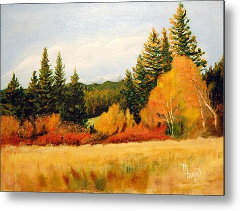 Landscape Metal Print featuring the painting Fall In Chattaroy by Mark Farr