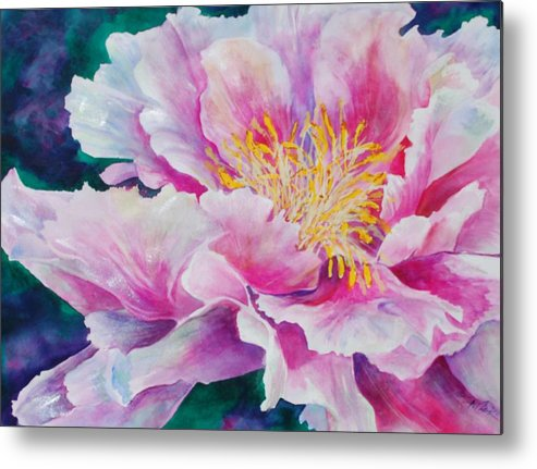 Floral Metal Print featuring the painting Glory by Donna Pierce-Clark