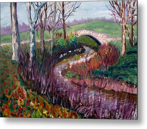 Landscape Metal Print featuring the painting Gp 11-22 by Stan Hamilton